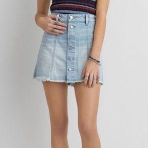 American Eagle Button Front Denim Skirt